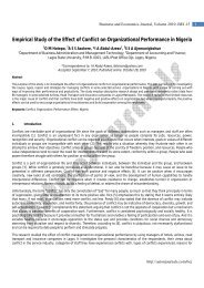 Empirical Study of the Effect of Conflict on ... - AstonJournals