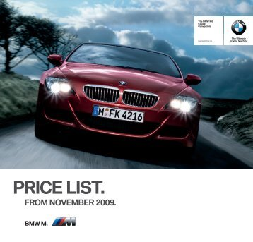 Current pricelist (PDF, 3.05MB) - BMW Ireland