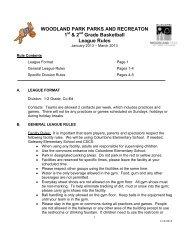 2013 1-2 Grade Basketball League Rules - City of Woodland Park