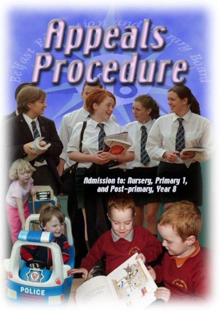Appeals Booklet.indd - Belfast Education & Library Board