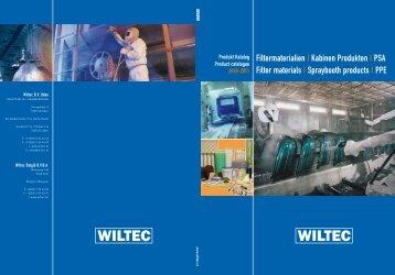 Filtermaterialien   Kabinen Produkten   PSA Filter materials - Wiltec