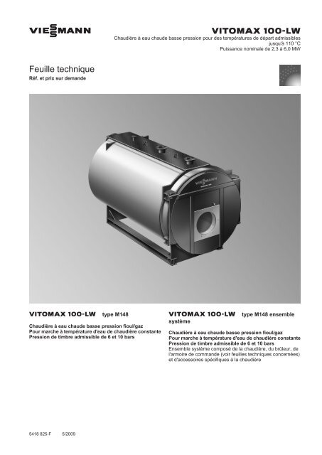 Feuille technique414 KB - Viessmann