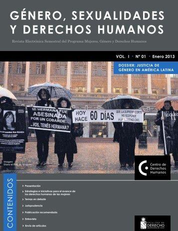 GÉNERO, SEXUALIDADES Y DERECHOS HUMANOS - Centro de ...