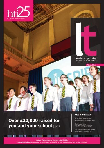 Over £20,000 raised for you and your school | pg3 - HTI