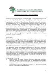 agribusiness manager – job description - African Agricultural ...