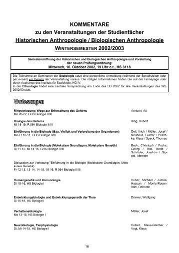 Kommentiertes Vorlesungsverzeichnis - ZAG der Universität Freiburg