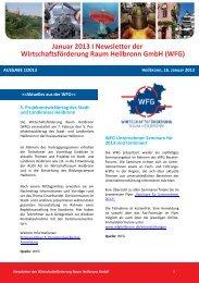 Newsletter Januar 2013 - Wirtschaftsförderung Raum Heilbronn GmbH
