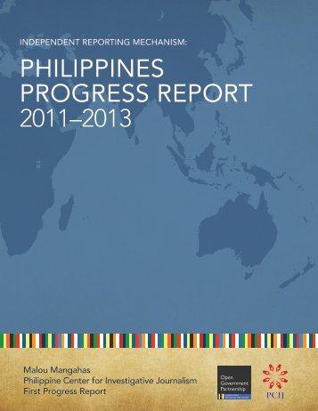 philippines progress report 2011–2013 - Open Government ...