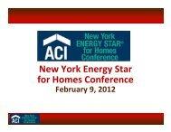 February 9, 2012 - ACI New York ENERGY STAR for Homes ...