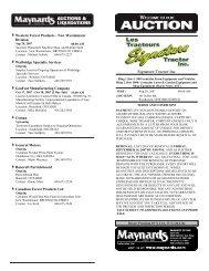 Signature Tractor Inc. - Maynards Industries