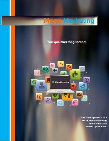 Web Development Manu Marketing works with the best designers ...