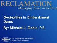 Geotextiles in Embankment Dams By - Association of State Dam ...