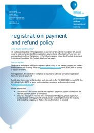 registration payment and refund policy