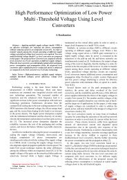 Threshold Voltage Using Level Converters - International Journal of ...