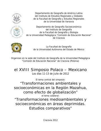 el XVIII Simposio Polaco – Mexicano