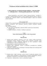 Všeobecne záväzné nariadenie obce Lehota č. 2/2008 - Obec Lehota
