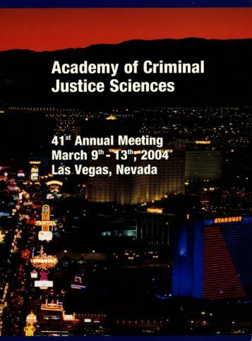 2004 Annual Meeting Program - Academy of Criminal Justice ...