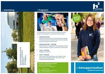 :: Schnupperstudium - Hochschule Magdeburg-Stendal