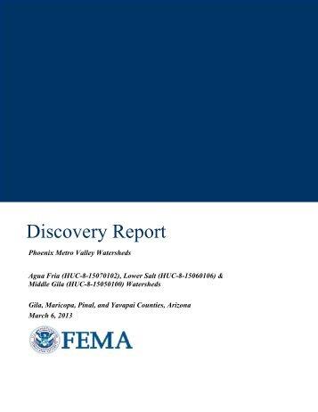Phoenix Metro Valley Discovery Report - FEMA Region 9