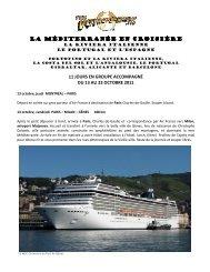 LA MÉDITERRANÉE EN CROISIÈRE LA ... - Voyages à rabais