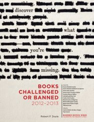 Books Challenged or Banned - Illinois Library Association
