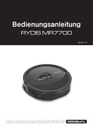 Bedienungsanleitung – Moneual MR7700 - myRobotcenter