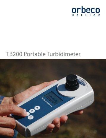 TB200 Portable Turbidimeter - Better Earth Environmental