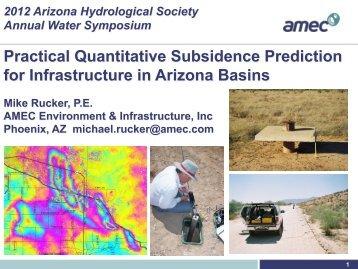 Estimating Subsidence - Arizona Hydrological Society
