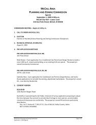 mccall area planning and zoning commission - The City of McCall