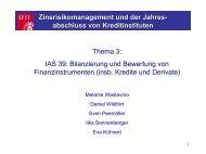 IAS 39: Bilanzierung Und Bewertung Von Finanzinstrumenten