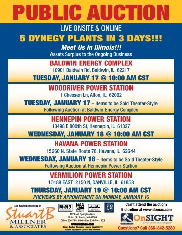 5 DYNEGY PLANTS IN 3 DAYS!!! - Stuart B. Millner & Associates