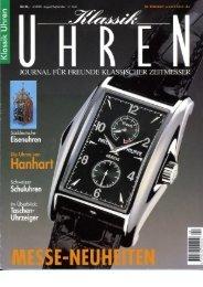 Klassik Uhren Doppelpendel - Haldimann Horology