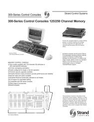 300-Series Control Consoles 125/250 Channel Memory