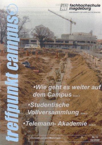 ' ~l'eh.t iter af de!2:Campus - Hochschule  Magdeburg-Stendal