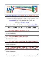 STAGIONE SPORTIVA 2011 - 2012 - FIGC