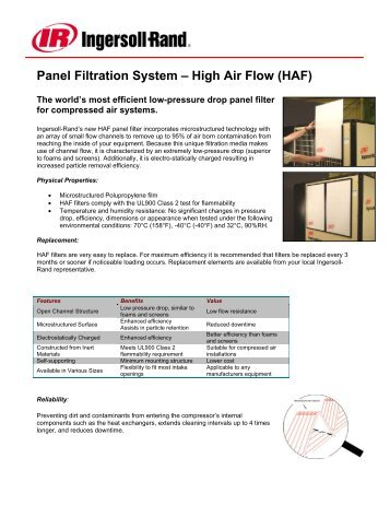 Panel Filtration System – High Air Flow (HAF)