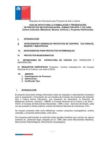 H. SECTOR EDUCACION - Sistema Nacional de Inversiones