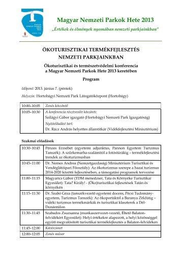 A szakmai nap programja - Magyar Nemzeti Vidéki Hálózat