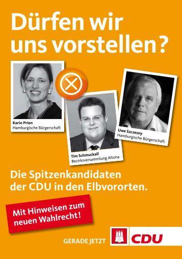 Dürfen wir uns vorstellen? - CDU-Altona/Elbvororte