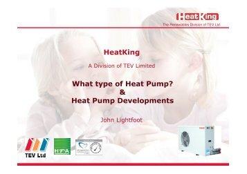 Heat Pump Developments - Scottish Energy Systems Group