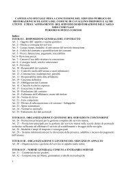 Capitolato e allegati - Gazzetta Amministrativa