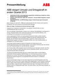 Presseinformation als PDF - ABB