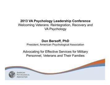 Bersoff Presentation.pdf - VA Psychology Leadership Conference