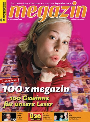 Das Lifestyle-Magazin der Region • 9. Jahrgang ... - Megazin