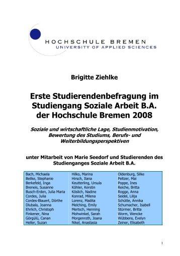Studierendenbefragung Soziale Arbeit BA. Forschungsbericht. HS ...
