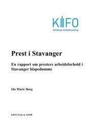 Prest i Stavanger - Stiftelsen Kirkeforskning KIFO