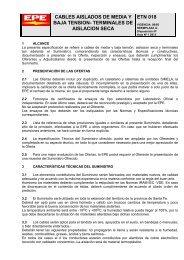 CABLES AISLADOS DE MEDIA Y BAJA TENSION ... - Epe