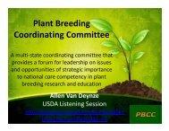 Plant Breeding Coordinating Committee