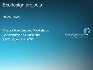 BPP ecodesign projects nov 05 - Plastics New Zealand