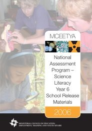 Science Literacy 2006 school release materials - NAP
